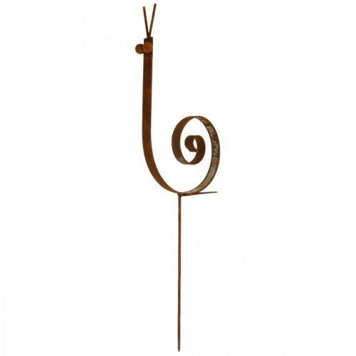 Bouchon de jardin escargot grande décoration de jardin en métal rouille H94cm
