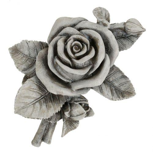 Rose Grise Pour Decoration De Tombe 16 X 13 5 Cm 2 P Articles De
