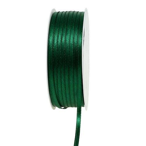 Ruban cadeau et décoration 3mm x 50m vert foncé