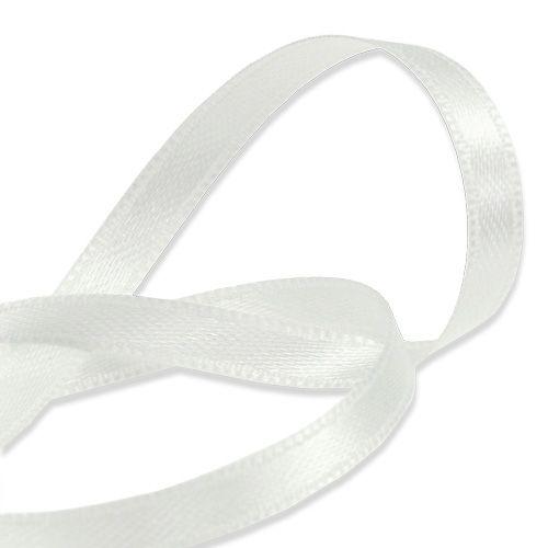 Ruban cadeau et décoration blanc 6mm 50m