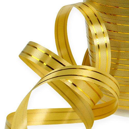 Ruban décoratif à 2 bandes or 10 mm 250 m