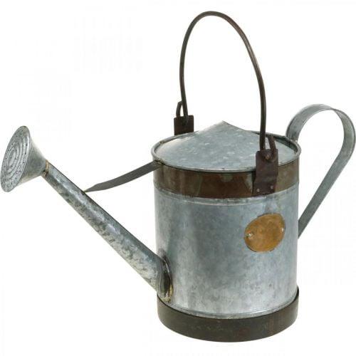 Arrosoir décoratif jardinière en métal look rétro panier suspendu 58 × 23 × 32cm