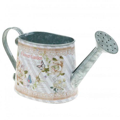 Arrosoir décoratif pot de jardinière en métal décoration d'été H15.5cm