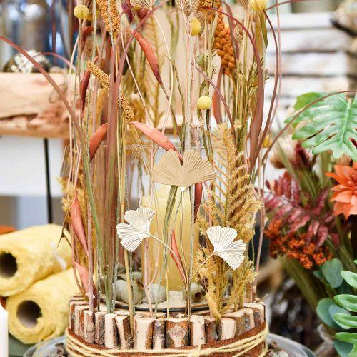 Bouchon décoratif en métal branche de Ginkgo Ginkgo Doré 14 × 28cm 6pcs