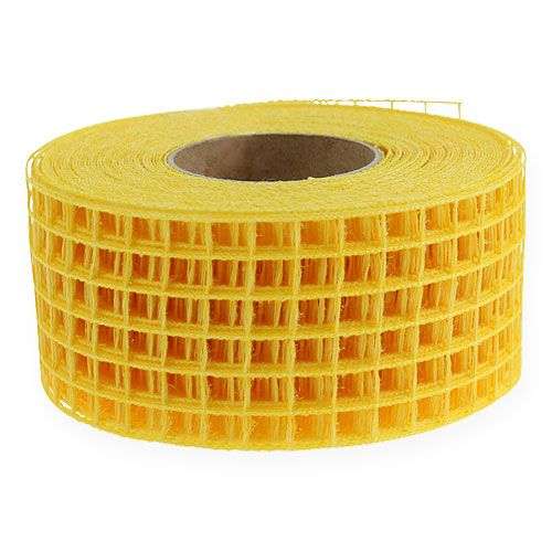 Ruban grillagé jaune 4,5 cm x 10 m