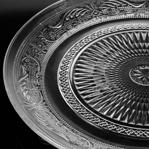 Assiette en verre antique Ø14,5cm 6pcs