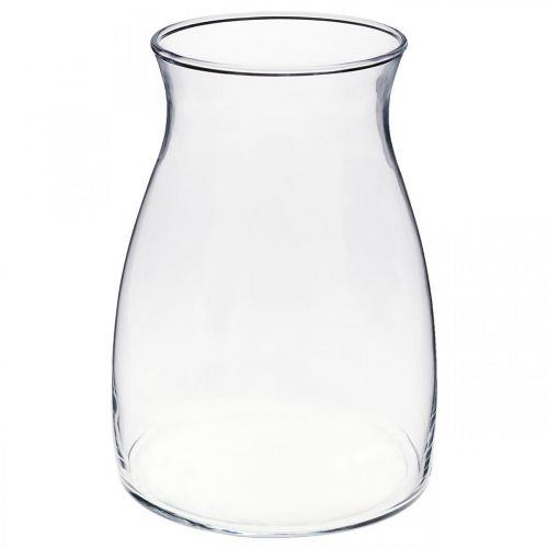 Vase décoratif en verre vase à fleurs transparent verre Ø11cm H20cm