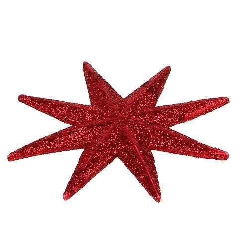 Etoile scintillante rouge Ø10cm 12pcs