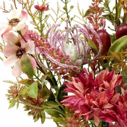Bouquet d'automne fuchsia 40cm