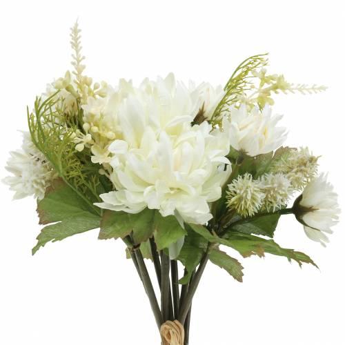 Chrysanthème Bouquet Mix Blanc 35cm