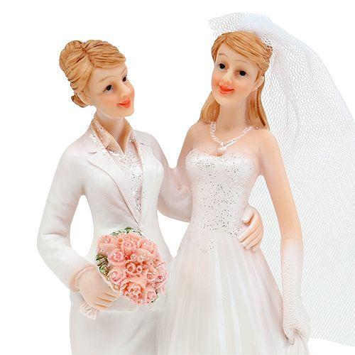 Figurine de mariage couple de femmes 17 cm