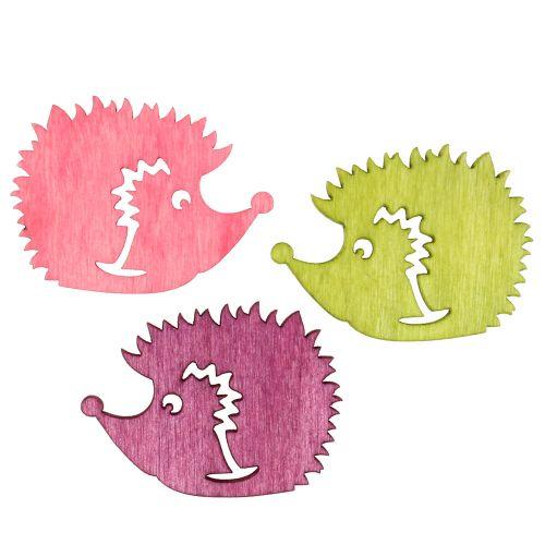 Figurines colorées de hérissons déco à parsemer 4 cm 72 p.