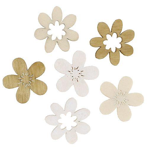 Fleurs en bois pour tri par dispersion. 2cm naturel 144p