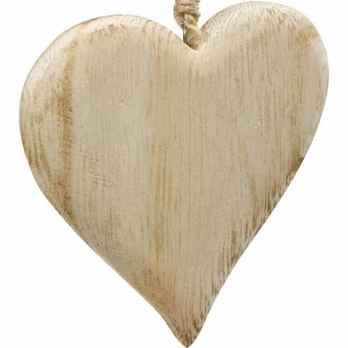 Coeur décoratif Saint Valentin Coeur en bois à accrocher décoration bois nature 4pcs