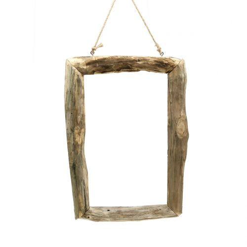 Cadre en bois naturel à suspendre 59 x 42 cm
