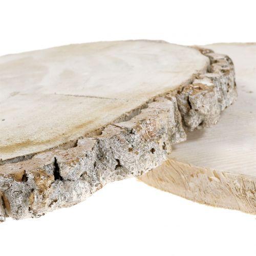 Rondelles de bois blanchi 13 -15 cm 2 p.