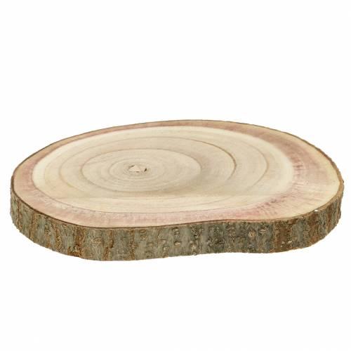 Tranche de bois naturelle de l'arbre impérial Ø 20- 25 cm 1 p.