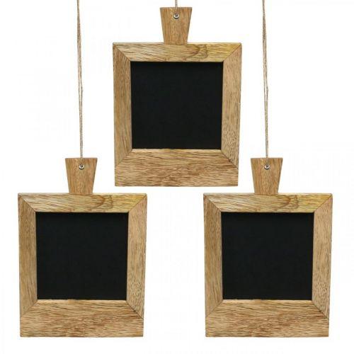 Mini planche déco à accrocher nature 9×13cm 3pcs