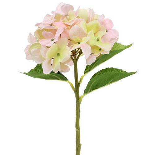 Hortensia artificiel en rose clair 36cm