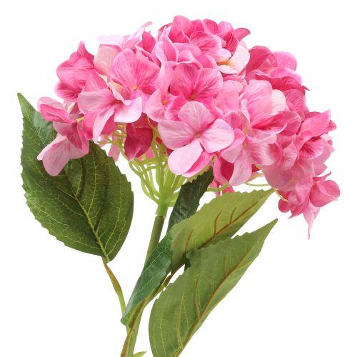 Hortensia grand rose artificiel L110cm