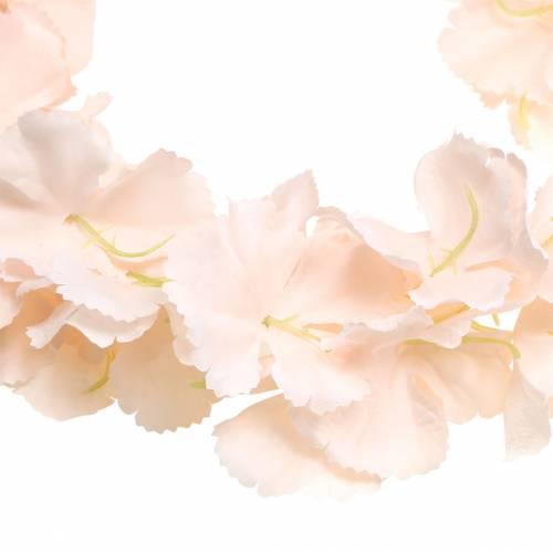 Guirlande de fleurs décoratives abricot artificiel 135cm 5 brins