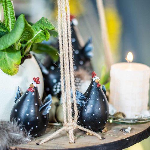 Poulet de décoration de Pâques, poulet drôle, décoration de table pour le printemps, poulet de Pâques 13cm