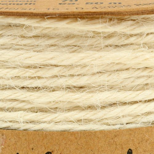 Cordelette de jute blanche Ø 2 mm 100 g