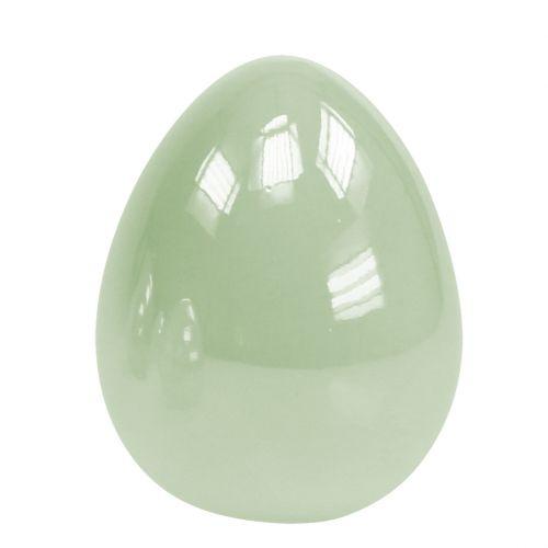 Œuf debout en céramique vert pastel 8,5 cm 4 p.
