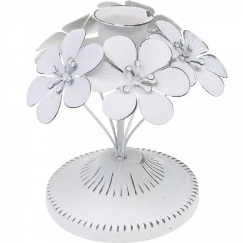 Décorations de printemps, chandeliers en métal avec des fleurs, décorations de mariage, bougeoirs, décorations de table