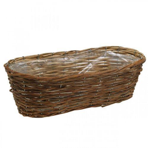 Panier à plantes, jardinière, panier bol naturel L46cm H14cm