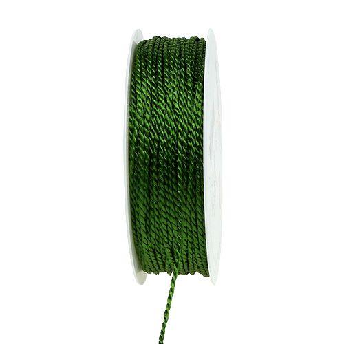 Cordelette vert mousse 2 mm 50 m