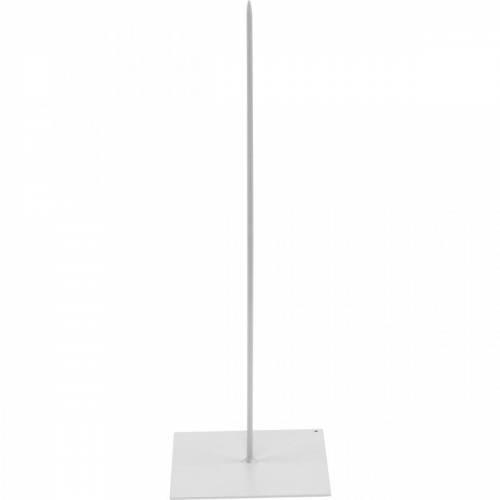 Porte-couronne Porte-couronne en métal blanc H30cm