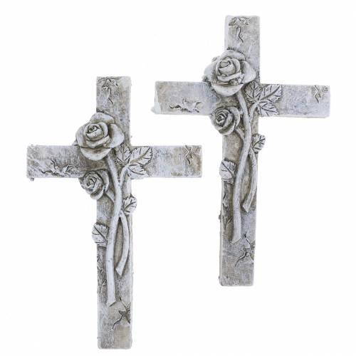 Décorations funéraires Croix 7,5cm x 11cm 4pcs