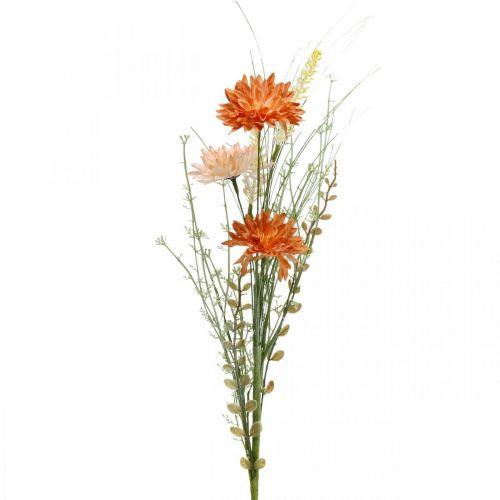 Fleurs de prairie artificielles Fleurs artificielles orange à la décoration d'été Pick
