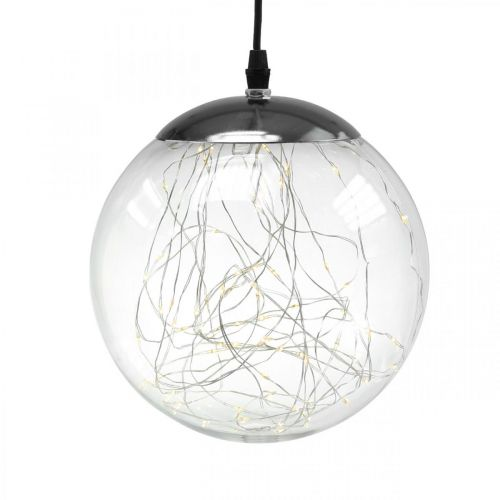 Boule LED large intérieur et extérieur Ø20cm transparent 80L blanc chaud
