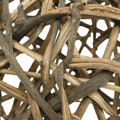 Boule déco bois de vigne naturel Ø15cm