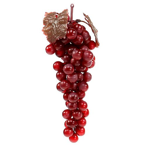 Grappe de raisins rouges artificielle de 22cm