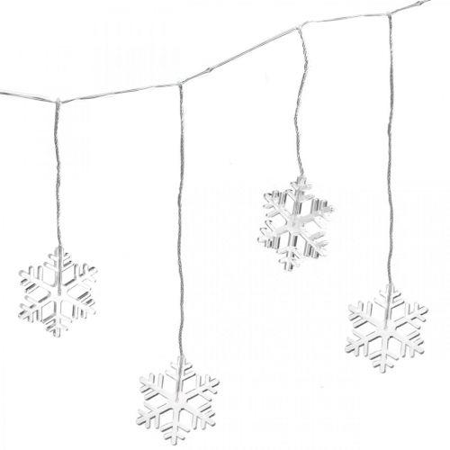 Décoration de fenêtre LED Flocons de neige de Noël blanc chaud Pour batterie 105cm