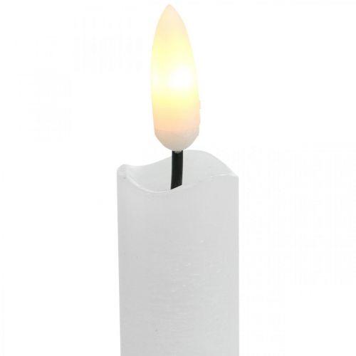 Bougie LED table de cire bougie blanc chaud Pour pile Ø2cm 24cm 2pcs