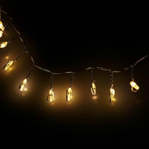 Chaine lumineuse LED blanc chaud argent 100cm 100L pour batterie