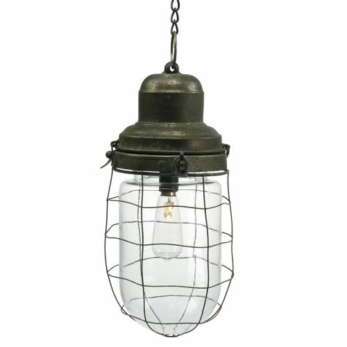 Lampe décorative pour navire avec chaîne pour suspendre LED Ø13.5cm H29.5cm