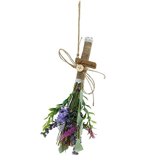 Bouquet garni artificiel avec lavande 23 cm
