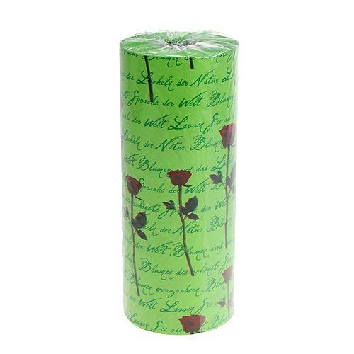 Papier de fleuriste 37 5 cm 100 m vert rose boutique en for Fleuriste ligne