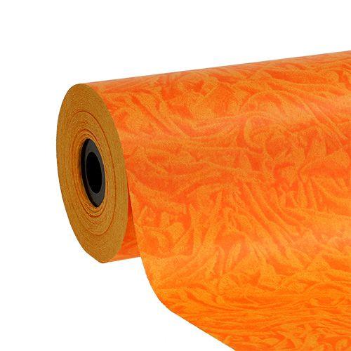Papier de fleuriste orange 25 cm 100 m