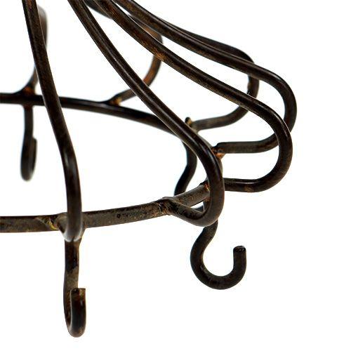 Couronne en métal à suspendre marron