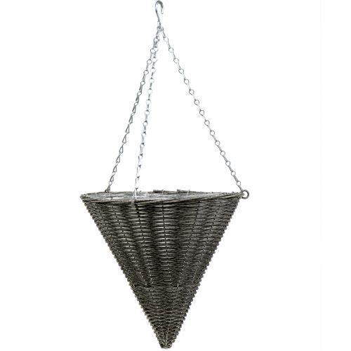 Lampe corbeille cone cone gris Ø35cm H37cm