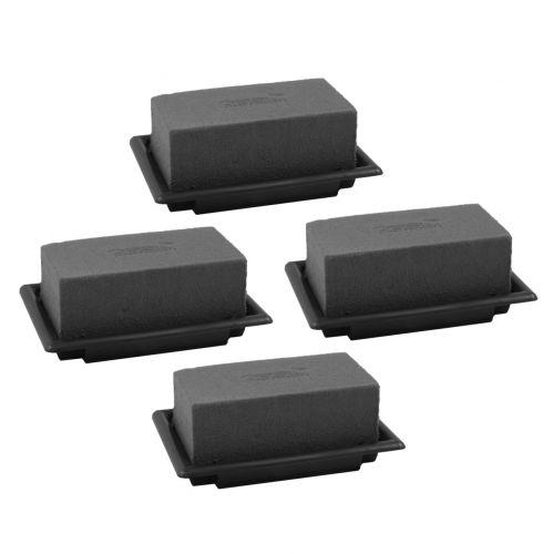 OASIS® Black Table Deco Mini Floral Foam Noir 4pcs