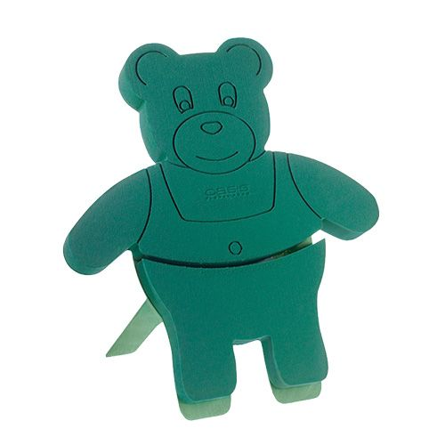 Figurine en mousse florale Teddy avec support 48,5cm x 42cm H5cm 1pc