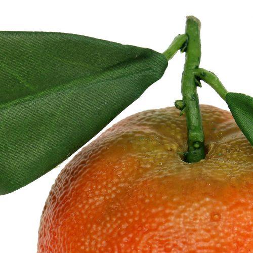 Orange avec feuille 7cm 4pcs