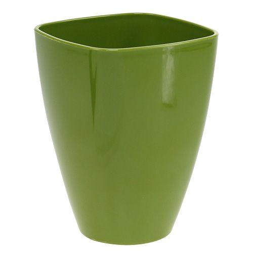 Pot d'orchidée brillant Ø12,5cm vert olive, 1p